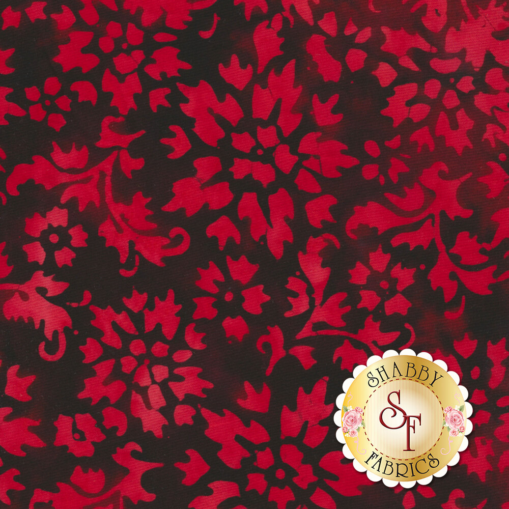Floragraphix Batiks 4 1-GBD-1 Red by In The Beginning Fabrics available at Shabby Fabrics