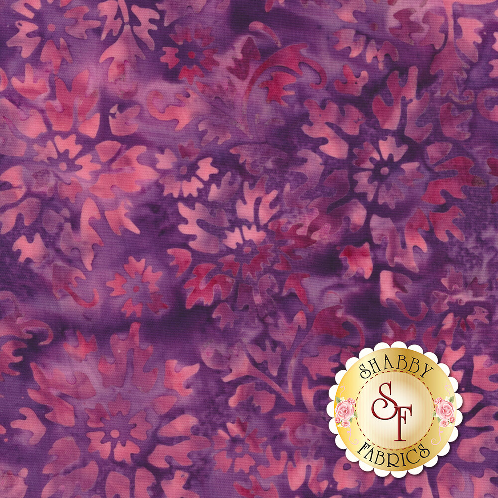 Floragraphix Batiks 4 1-GBD-3 Berry by In The Beginning Fabrics available at Shabby Fabrics