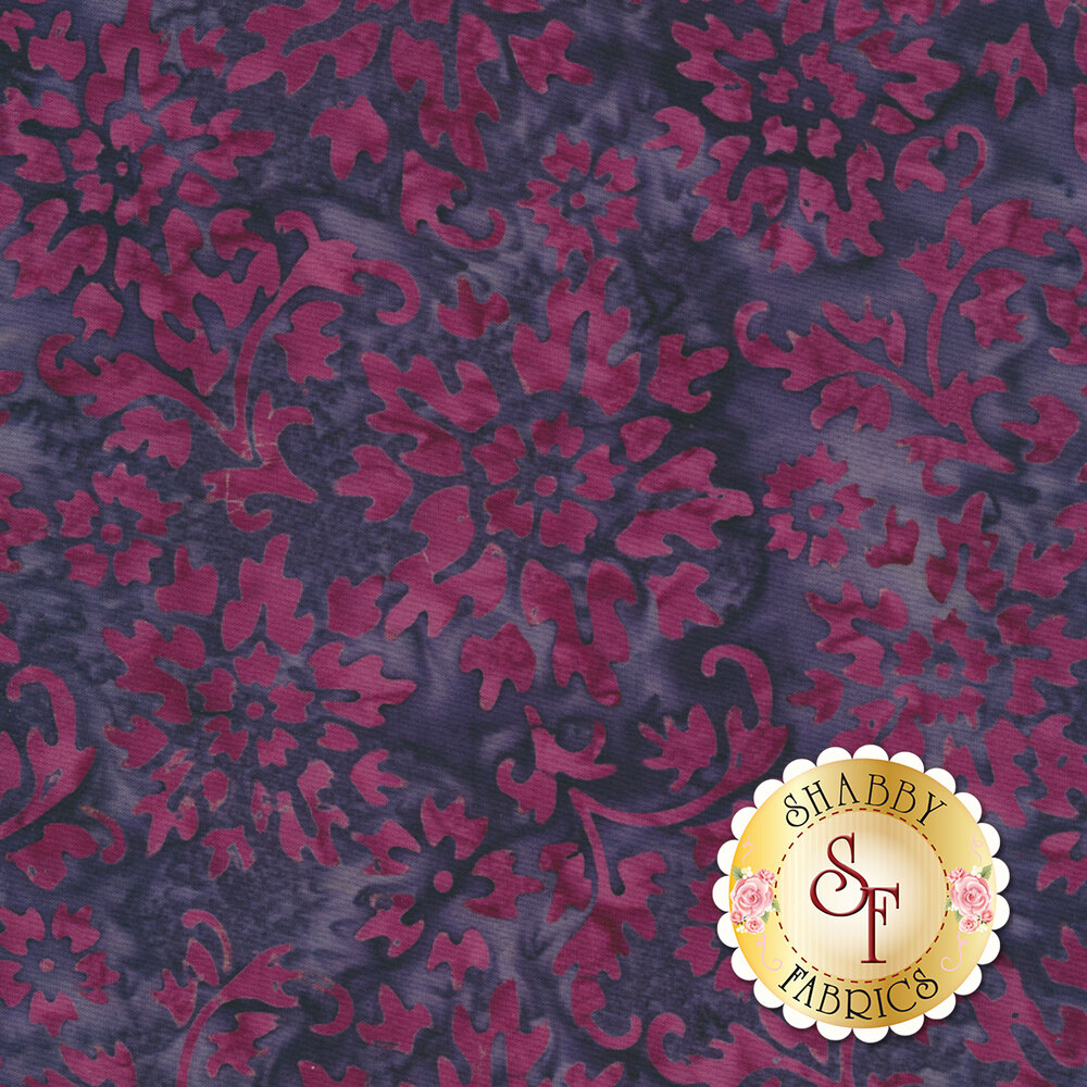 Floragraphix Batiks 4 1-GBD-4 Grape by In The Beginning Fabrics available at Shabby Fabrics