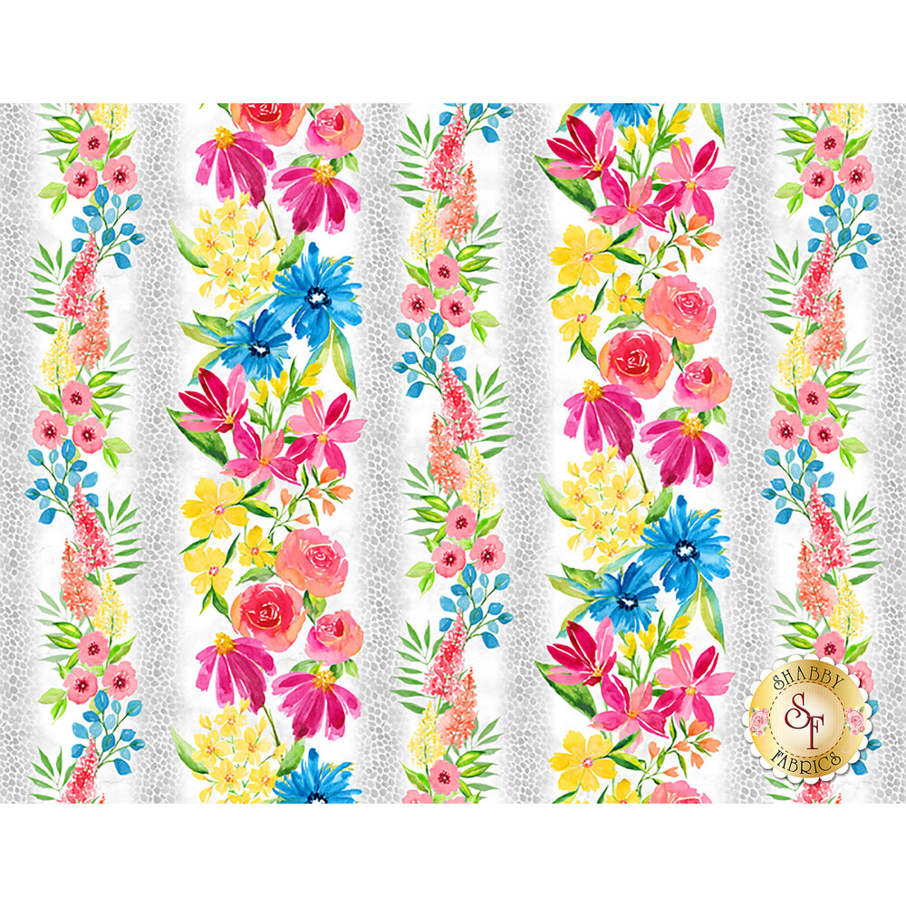 Bloom True 10501-139 Repeating Stripe Multi from Wilmington Prints by Charlotte Grace