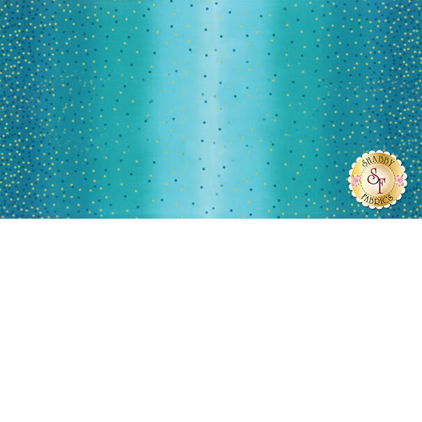 Ombre Confetti Metallic 10807-209M Turquoise  for Moda Fabrics