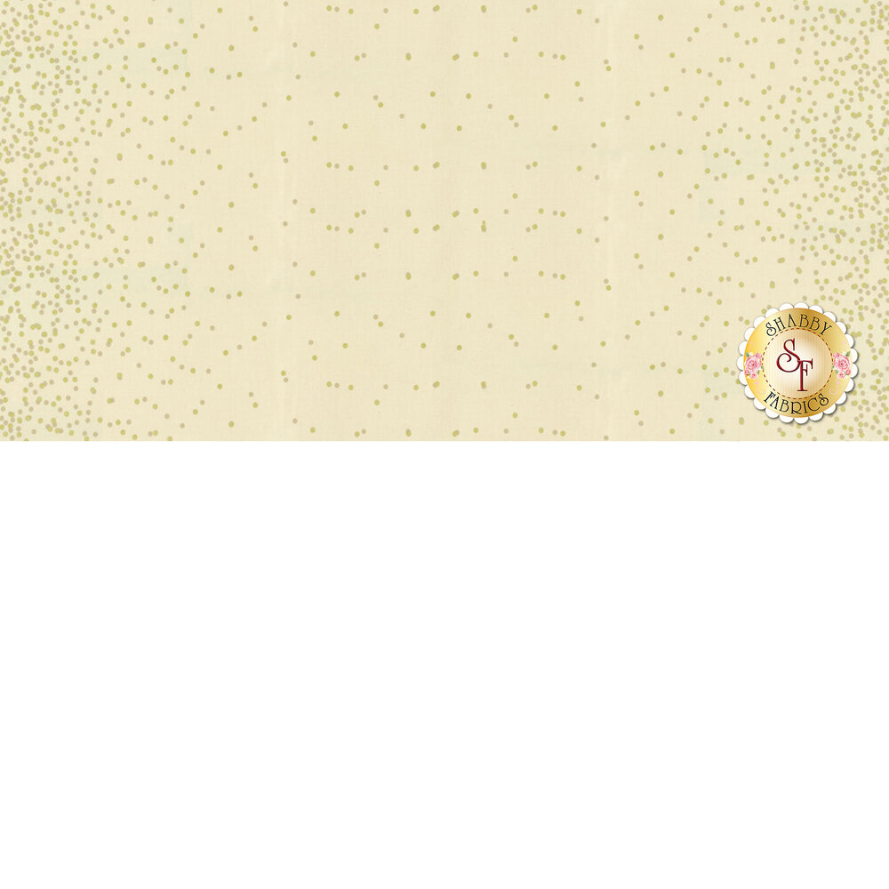 Tan fabric with gold metallic dots | Shabby Fabrics