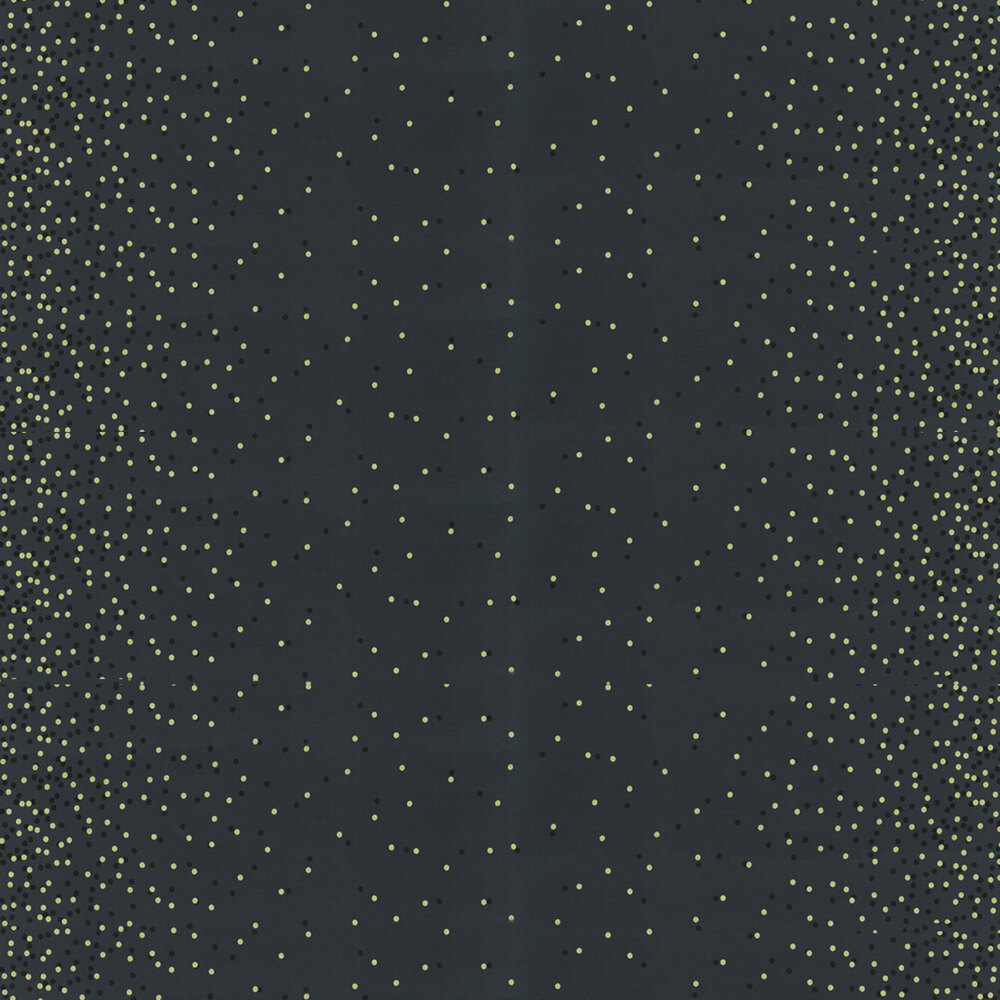 Black fabric with tonal dots and gold metallic dots | Shabby Fabrics