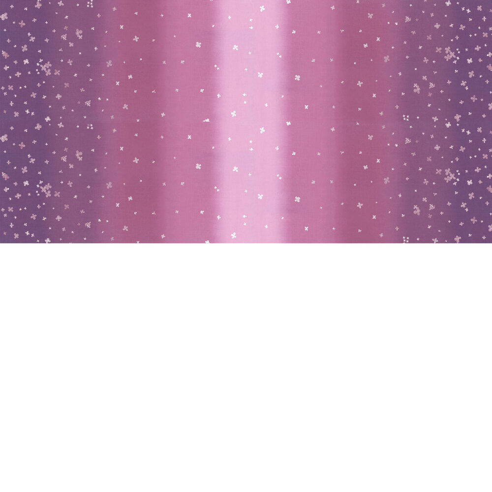 Mauve purple ombre fabric with small scattered flowers   Shabby Fabrics