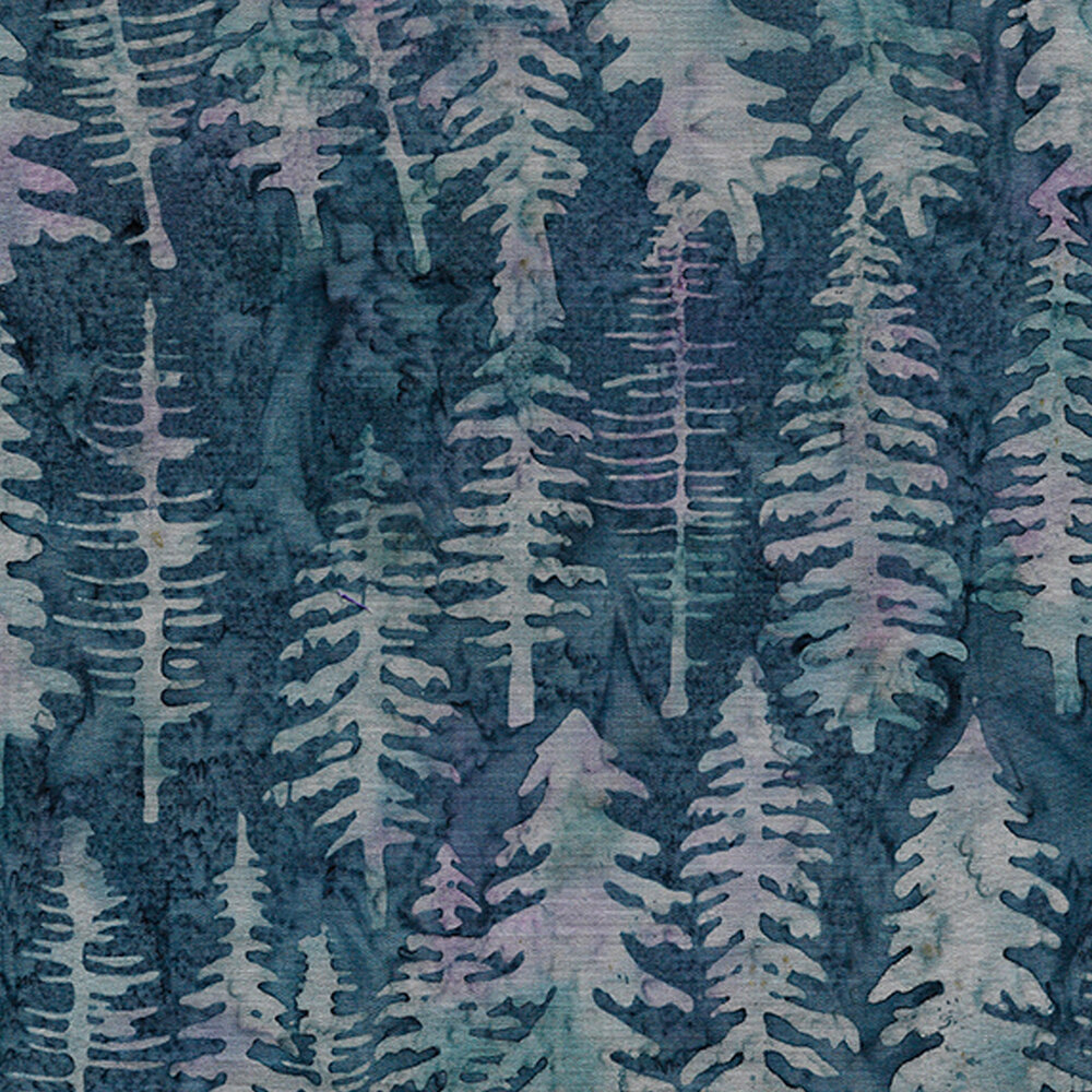 Light blue trees on a blue background