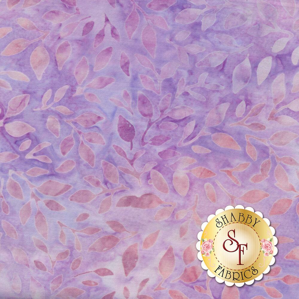 Purple leaves on a mottled purple background