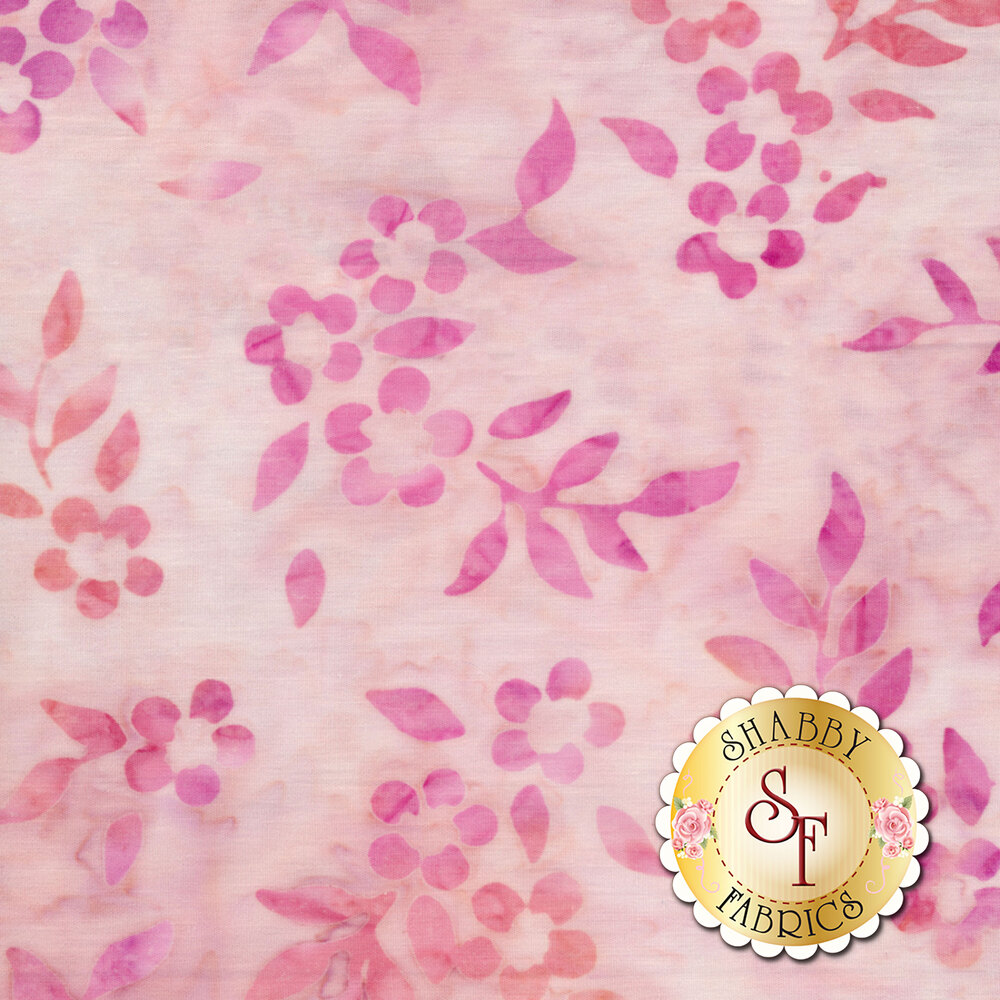 Dark pink leaves on a mottled light pink background