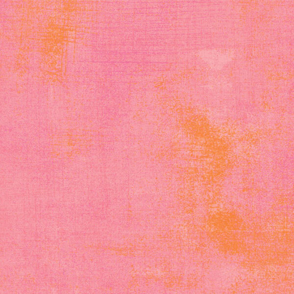 Salmon colored grunge textured fabric | Shabby Fabrics