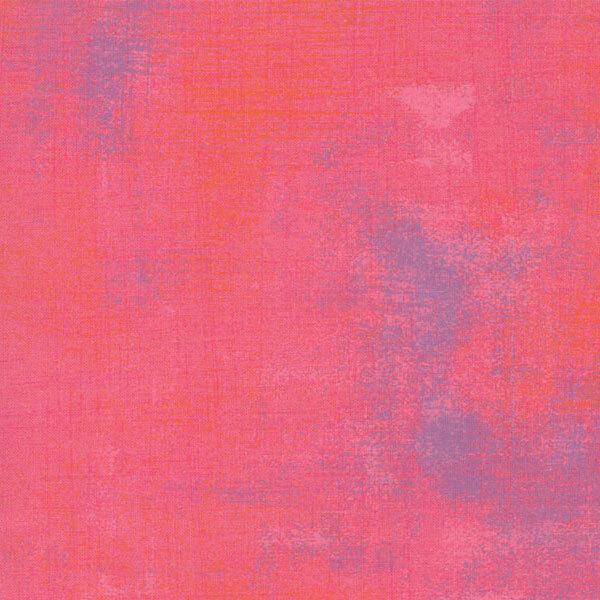 Bright coral grunge textured fabric | Shabby Fabrics