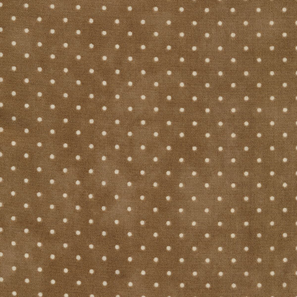 Brown fabric with small white dots