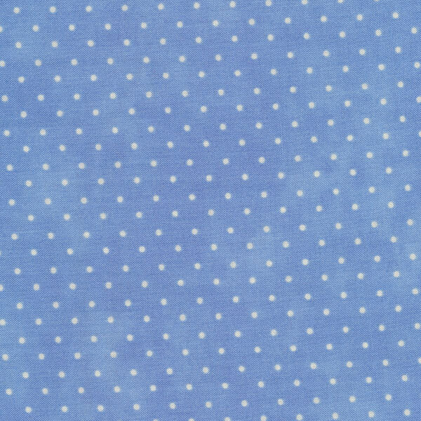 Light blue fabric with small white dots