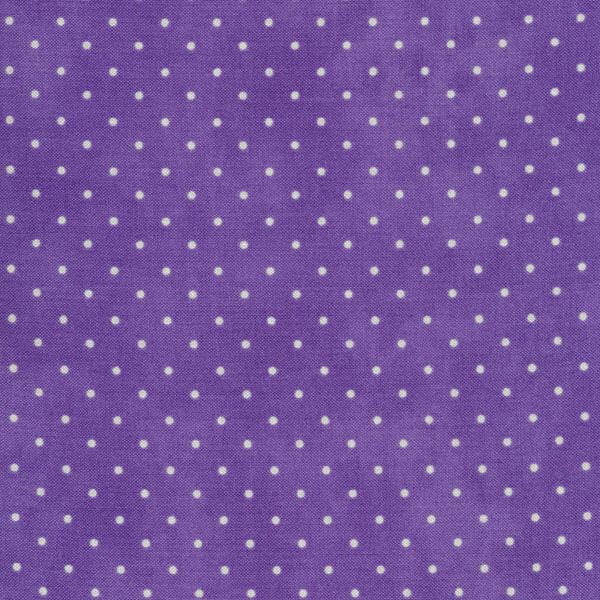 Purple mottled print with small white polka dots