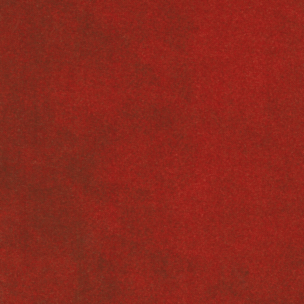 Mottled red flannel fabric | Shabby Fabrics