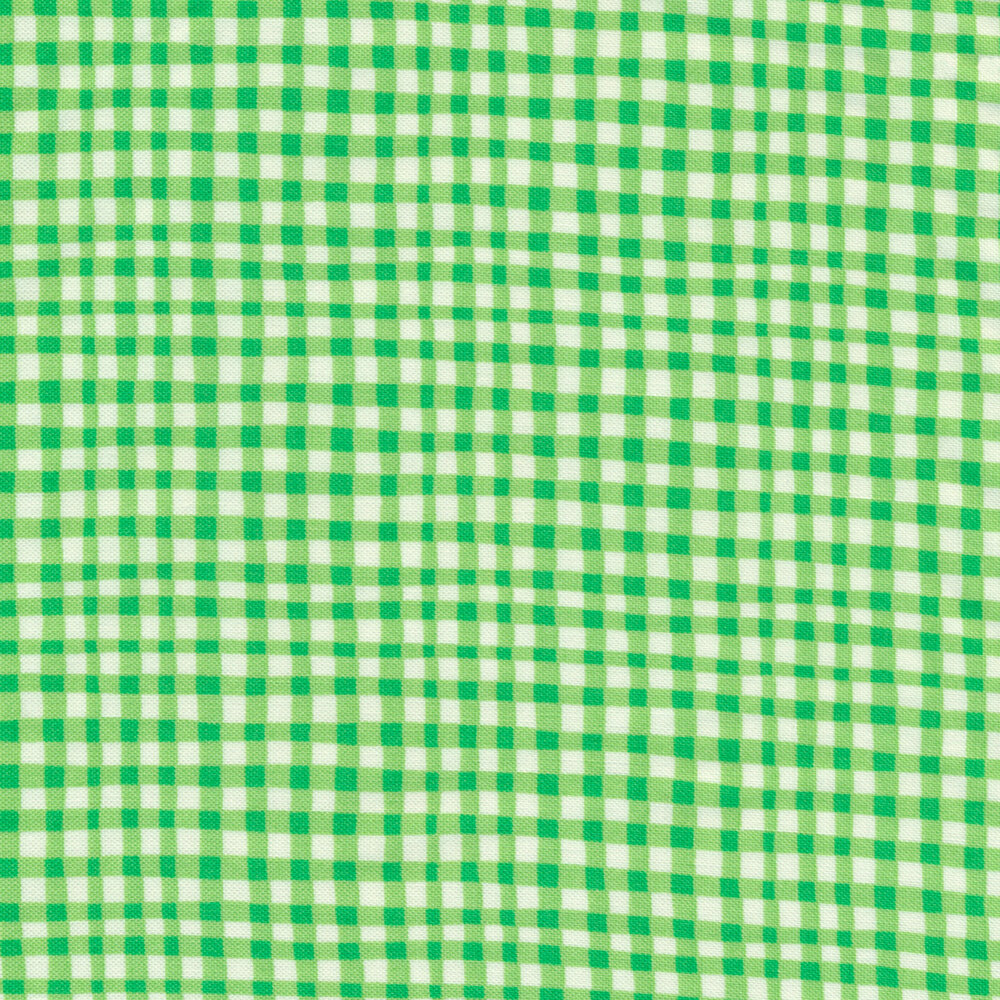 Gingham Play CX7161-LEAF-D by Michael Miller Fabrics