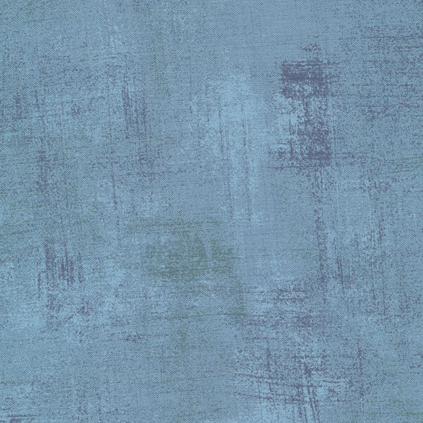 Blue grunge textured fabric | Shabby Fabrics