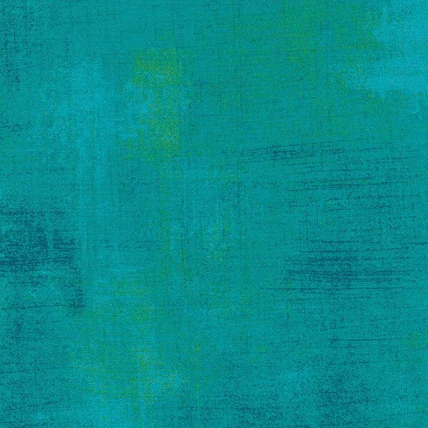 Turquoise grunge textured fabric | Shabby Fabrics