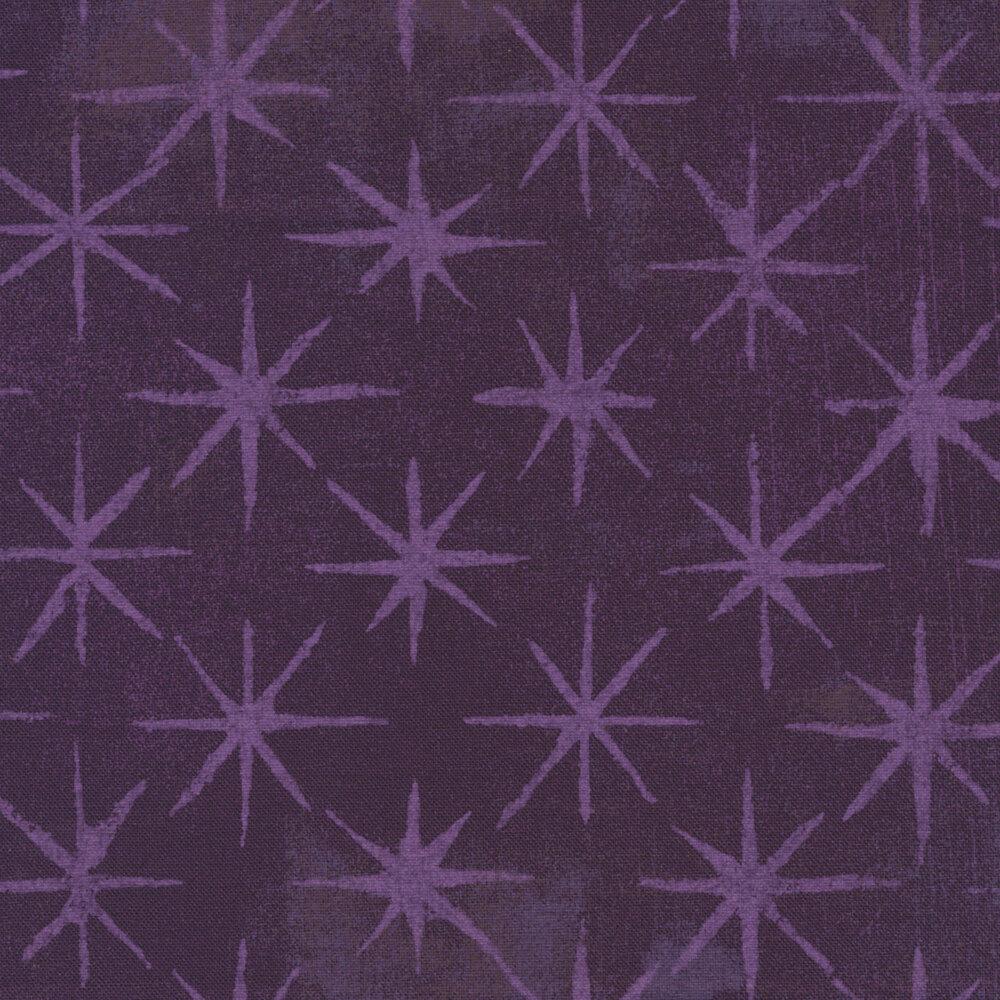 Grunge Seeing Stars 30148-36 Eggplant by BasicGrey for Moda Fabrics