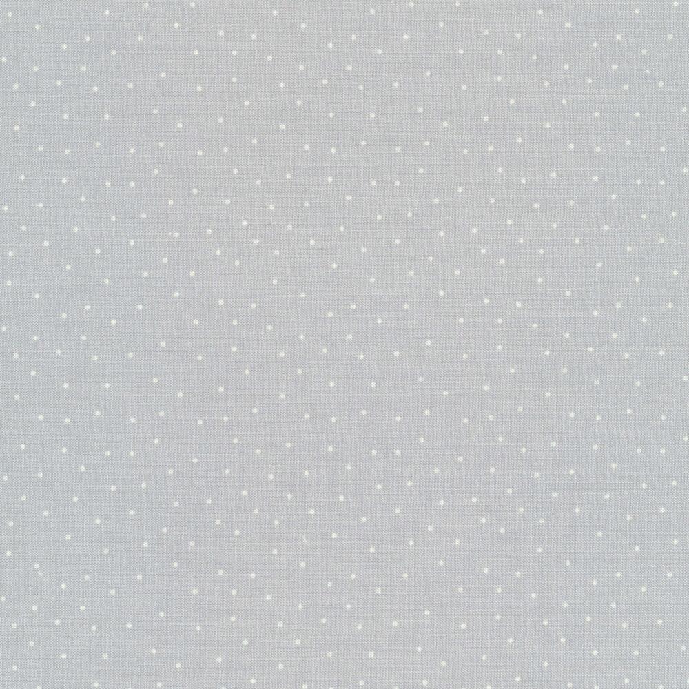 White scatter dots on gray | Shabby Fabrics