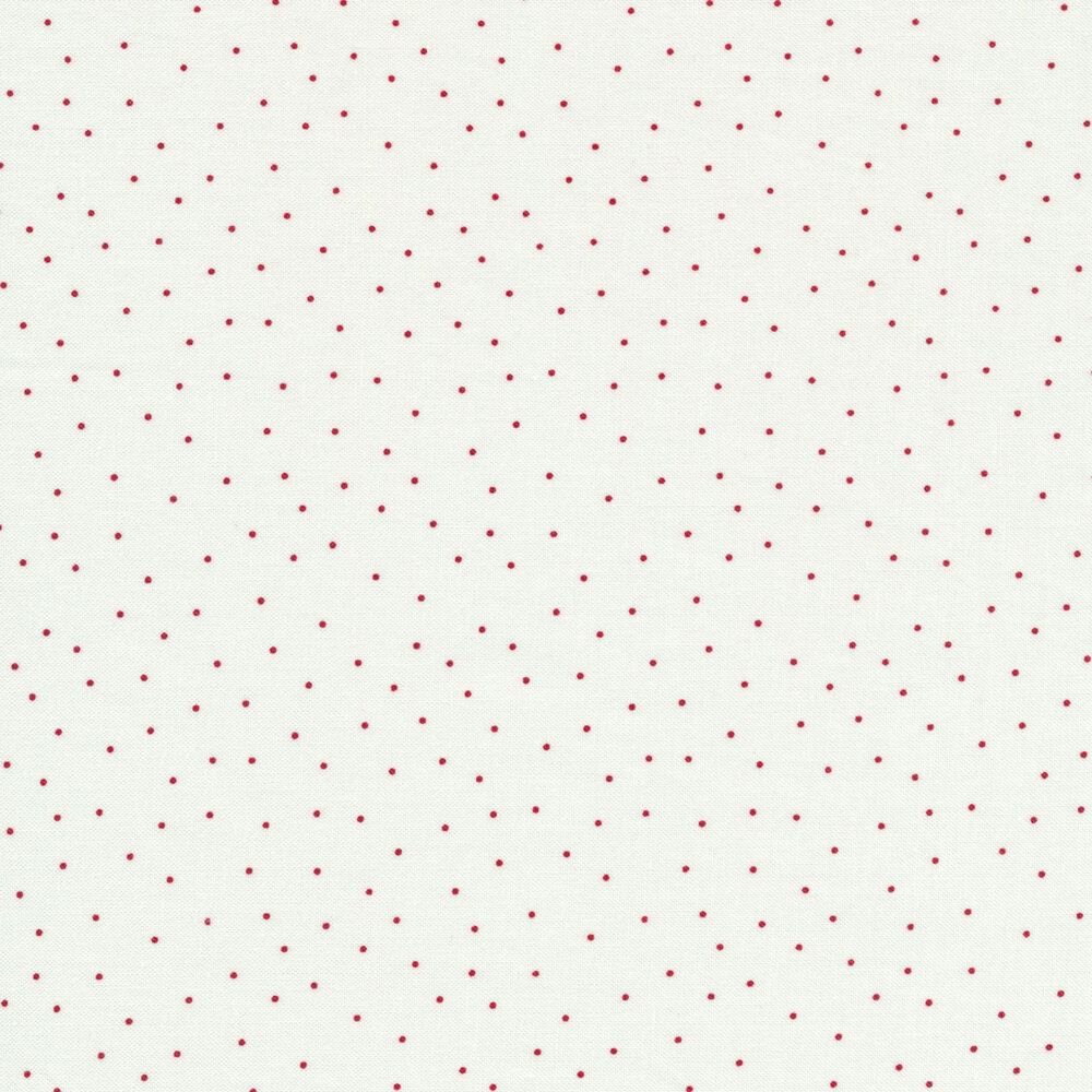Red scatter dots on white | Shabby Fabrics