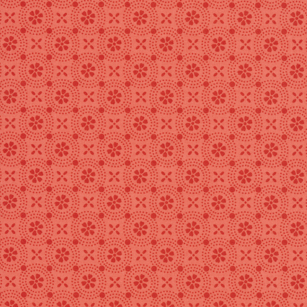 Tonal pink floral design | Shabby Fabrics