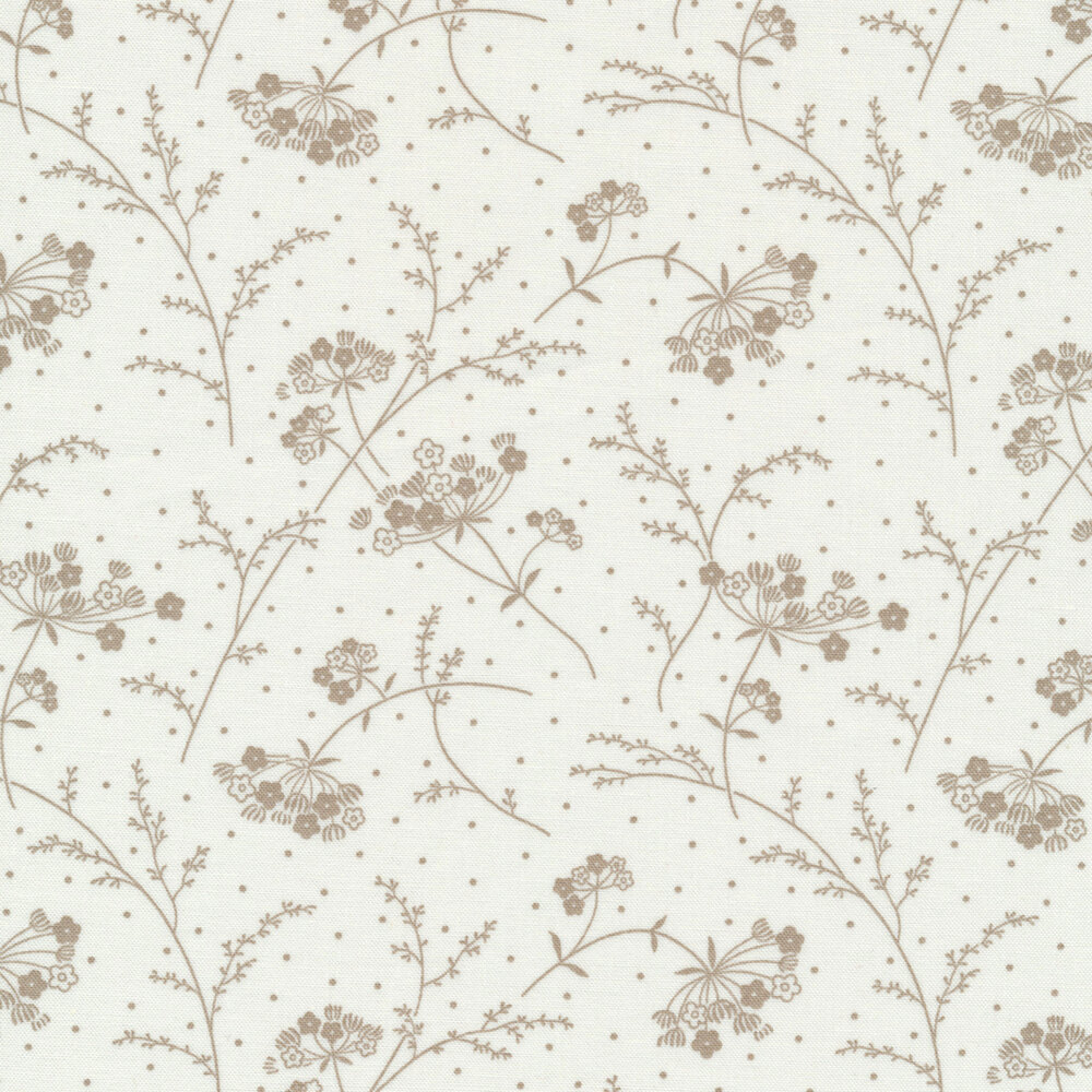 Make Yourself At Home 9394-SWT Soft White/Taupe Queen Anne's Lace for Maywood Studio