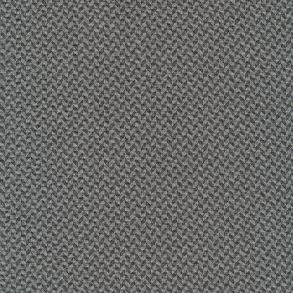 Tonal gray herringbone design | Shabby Fabrics