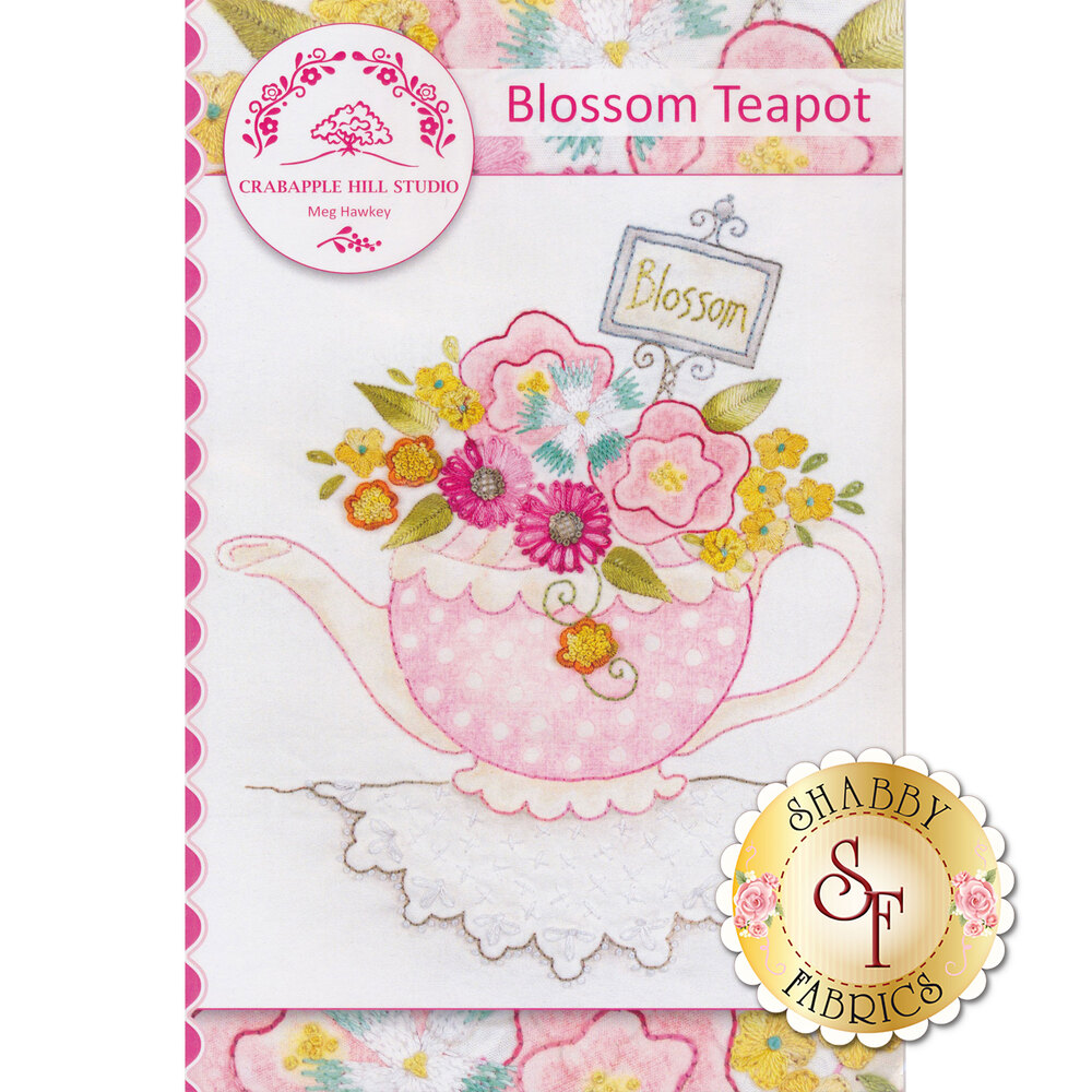 The front of the Blossom Teapot Pattern | Shabby Fabrics