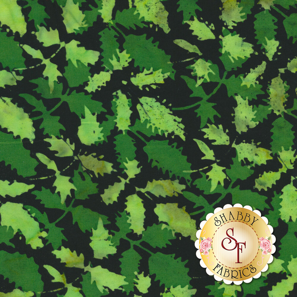 Floragraphix Batiks 4 2-GBD-2 Green by In The Beginning Fabrics available at Shabby Fabrics