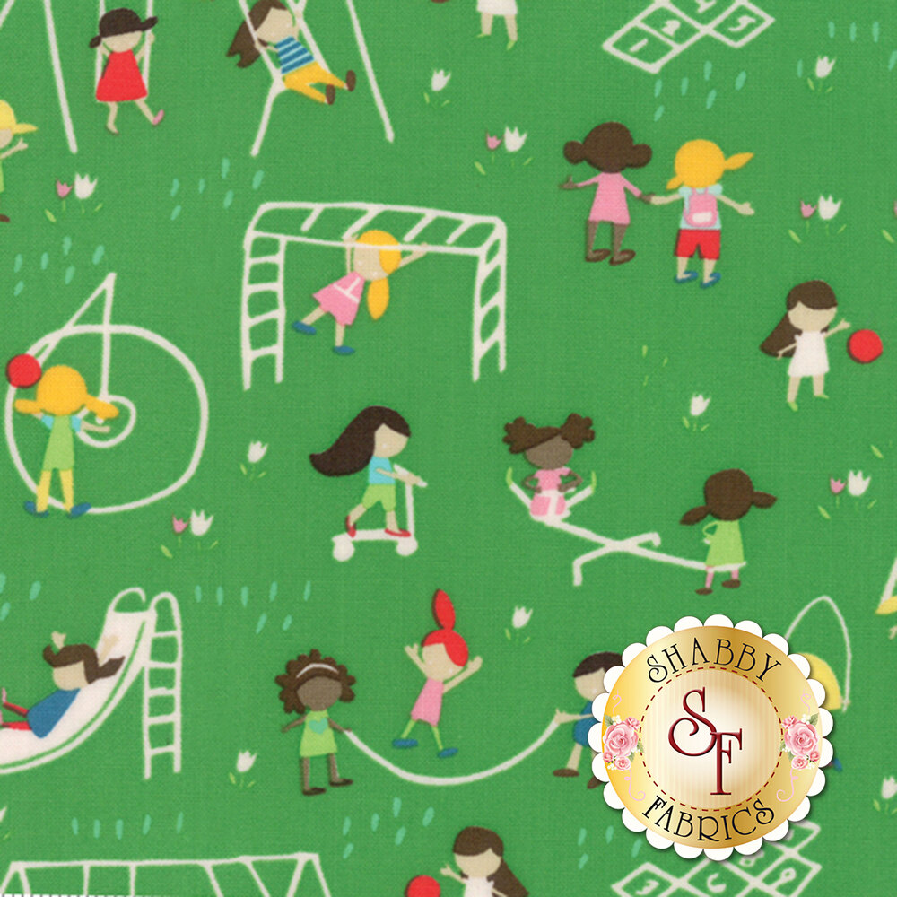 Best Friends Forever  20621-17 Green by Stacy Iest Hsu for Moda Fabrics