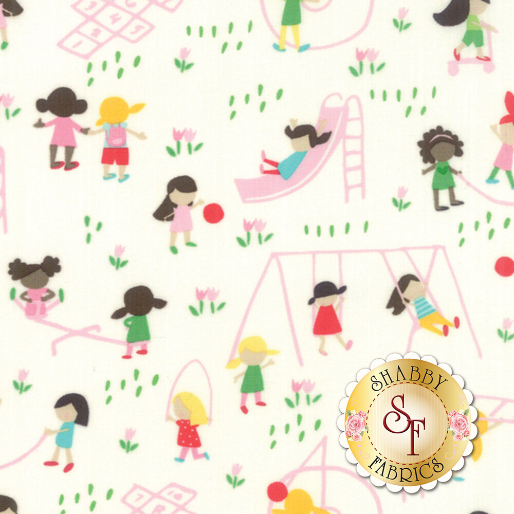 Best Friends Forever  20621-22 White by Stacy Iest Hsu for Moda Fabrics