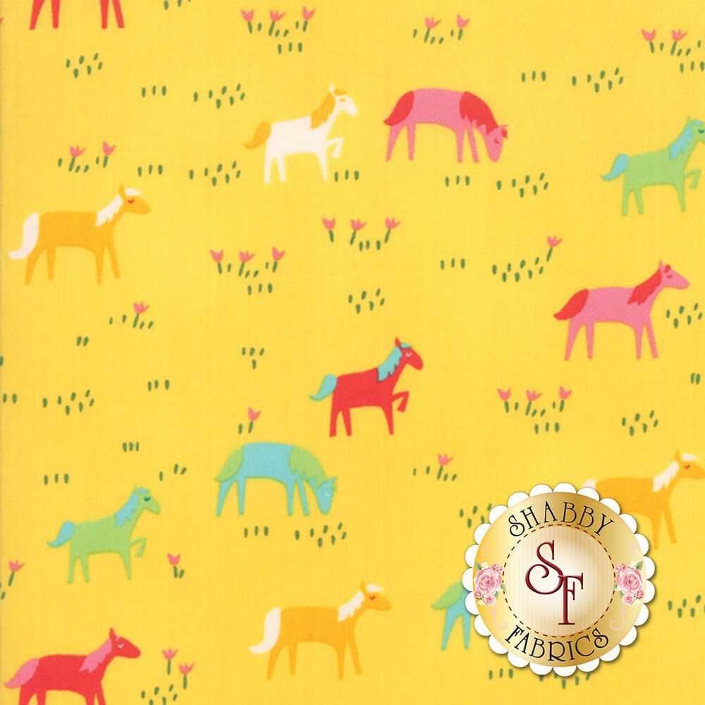Best Friends Forever 20623-15 Yellow by Stacy Iest Hsu for Moda Fabrics