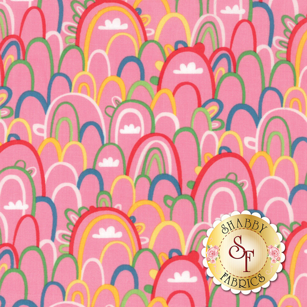 Best Friends Forever 20624-13 Dark Pink by Stacy Iest Hsu for Moda Fabrics
