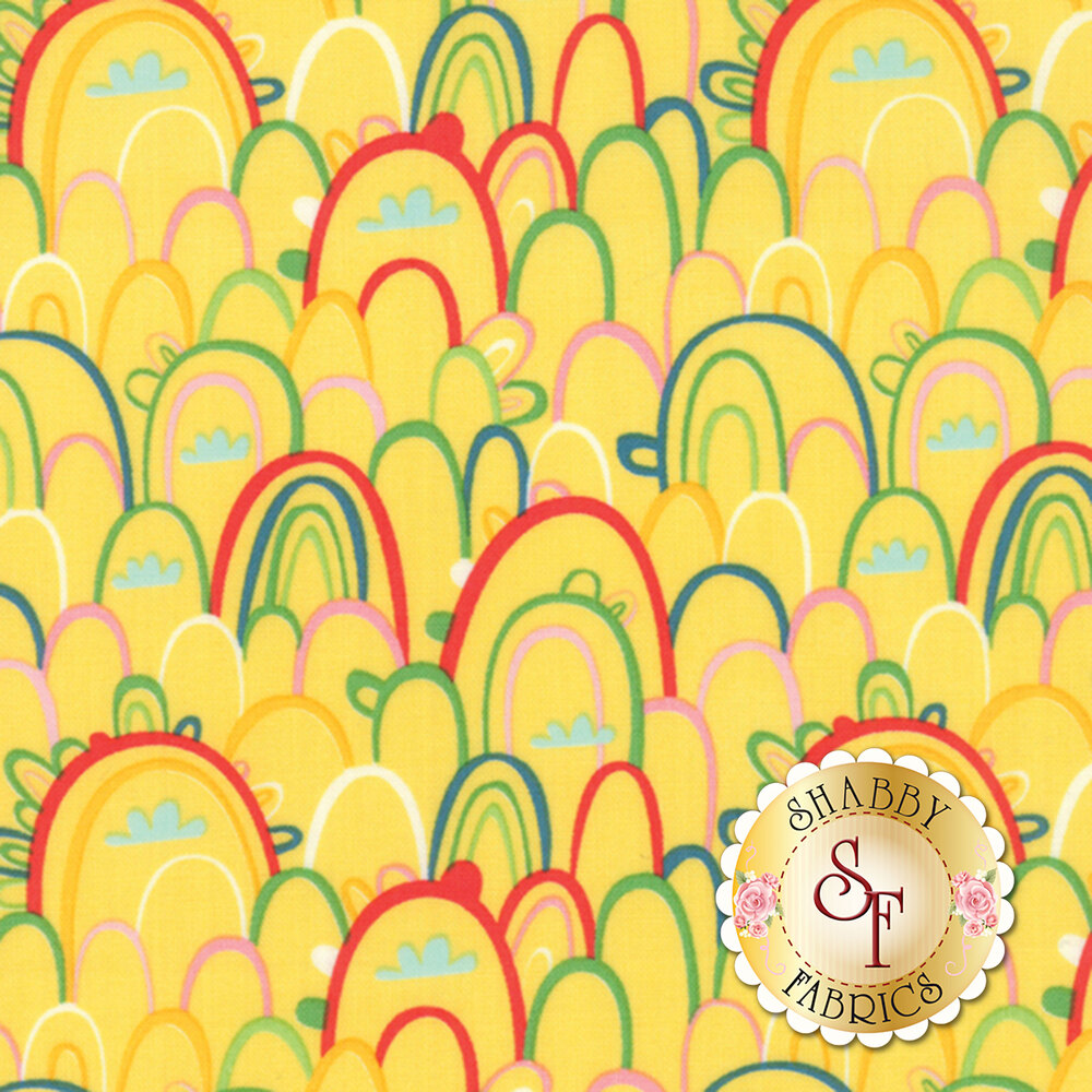 Best Friends Forever 20624-15 Yellow by Stacy Iest Hsu for Moda Fabrics