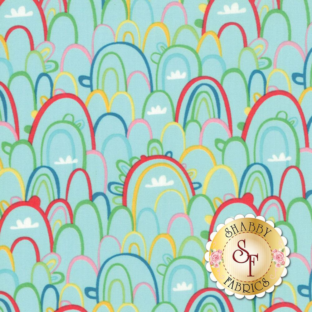 Best Friends Forever 20624-20 Aqua by Stacy Iest Hsu for Moda Fabrics