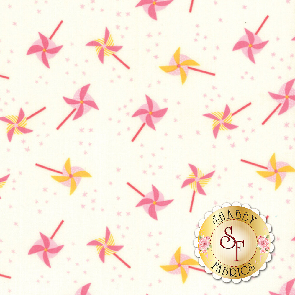 Best Friends Forever 20625-22 White Pink by Stacy Iest Hsu for Moda Fabrics