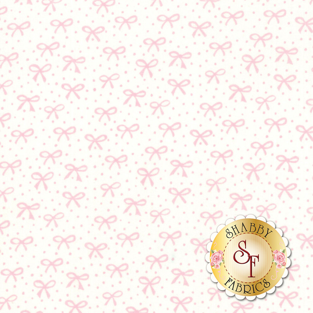 Best Friends Forever 20627-22 White Pink by Stacy Iest Hsu for Moda Fabrics
