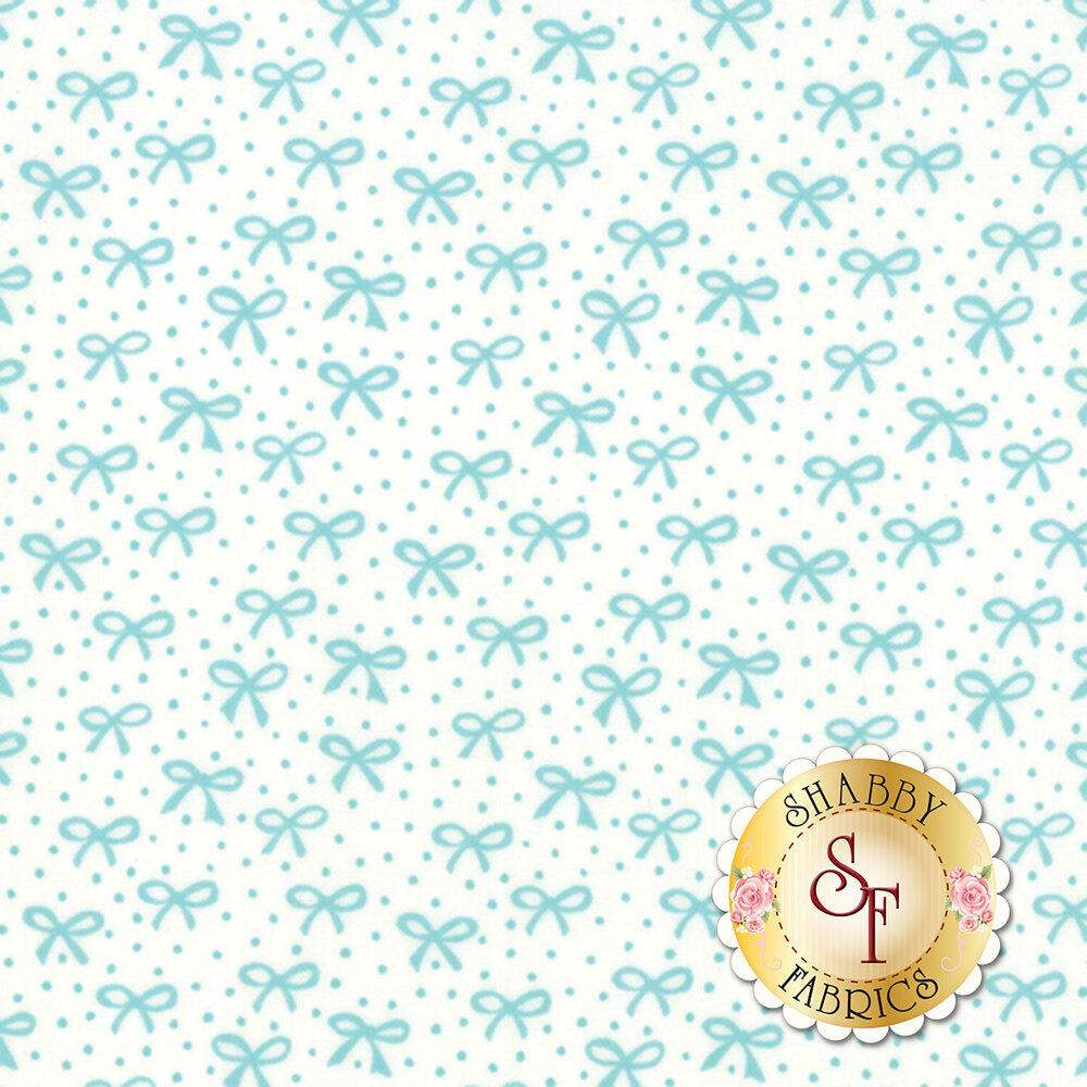 Best Friends Forever 20627-24 White Aqua by Stacy Iest Hsu for Moda Fabrics