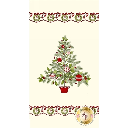 Ring In The Holly Days 2093P-40 Panel for Henry Glass Fabrics