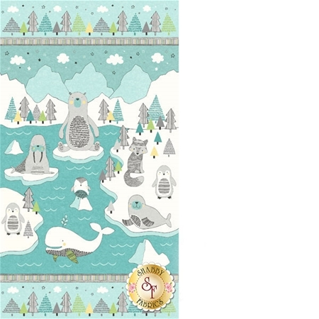 Polar Pals 21747-63 Panel by Northcott Fabrics