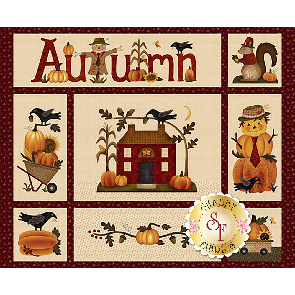 Buttermilk Autumn 2271P-24 Panel by Henry Glass available at Shabby Fabrics