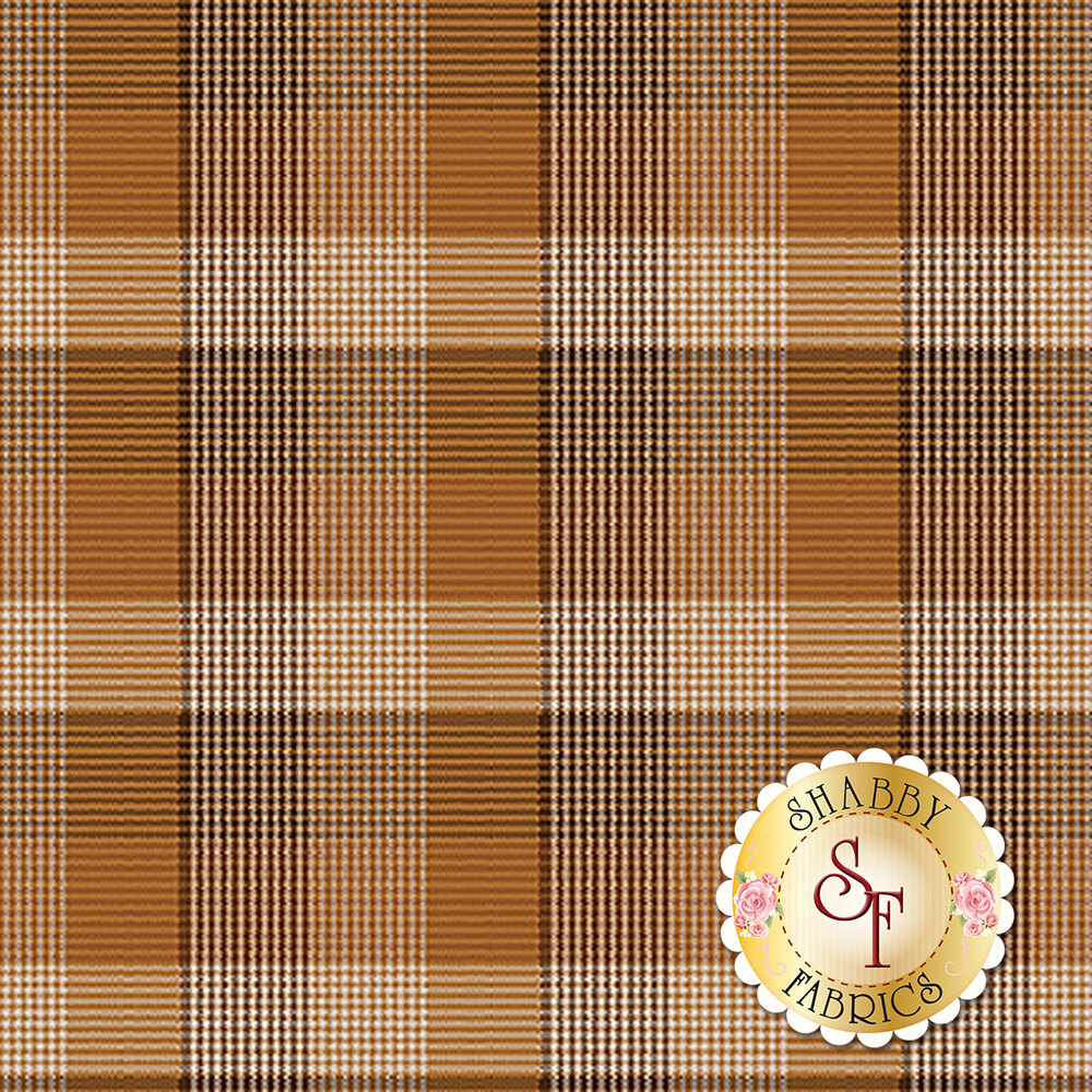 Folk Art Flannel III 2379-35 Russet by Henry Glass Fabrics now available