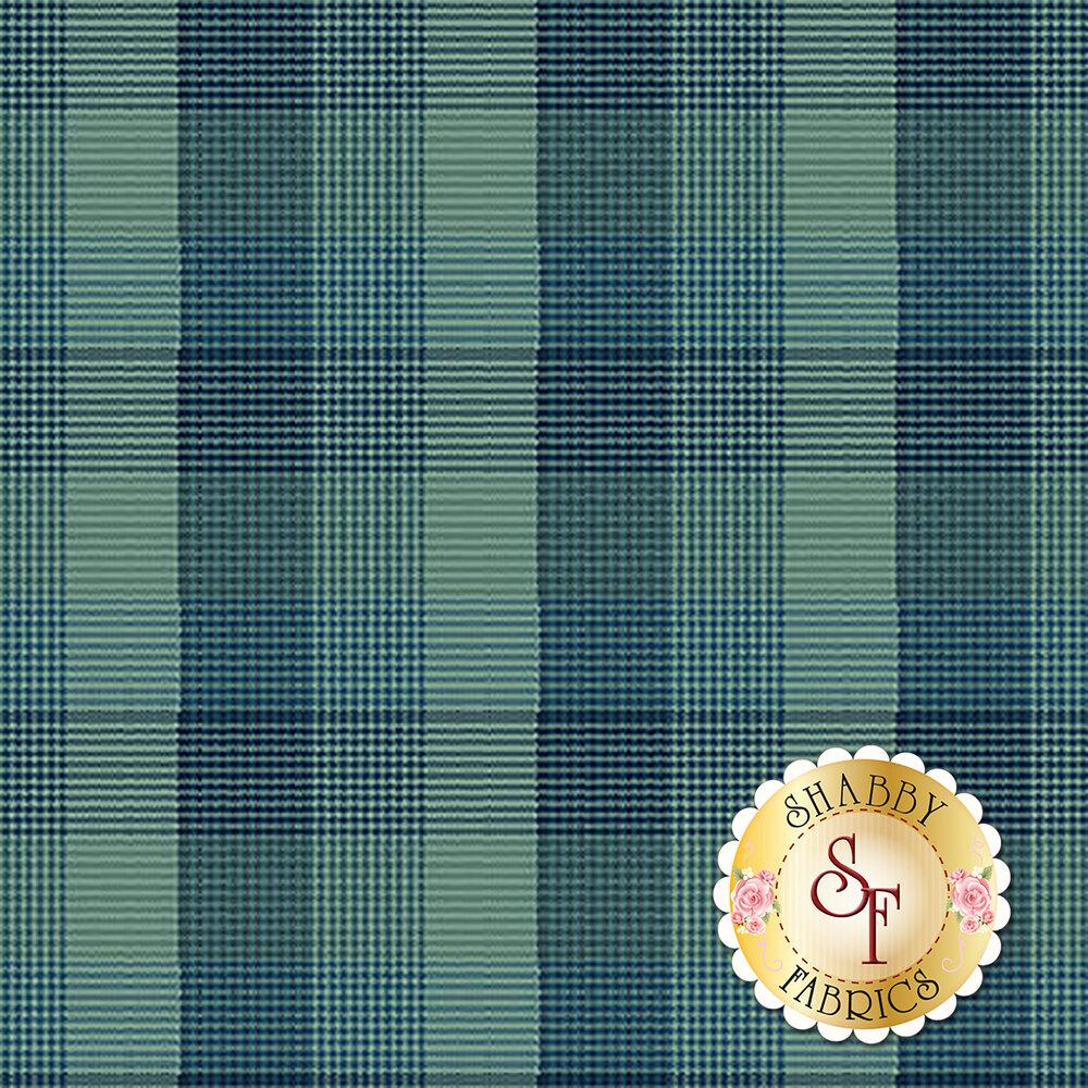 Teal plaid design | Shabby Fabrics