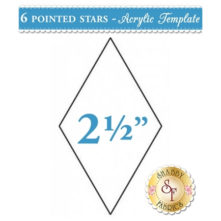 2 1/2 inch 6 point Star Acrylic Template
