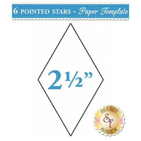 2 1/2 inch 6 point Star Papers - 50 count