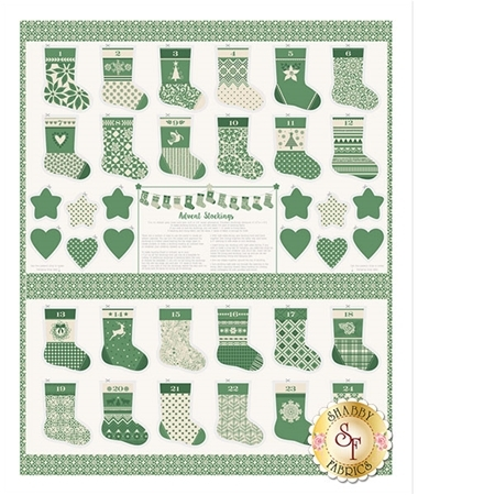 Merry Merry 27270-11 Spruce Panel by Kate Spain for Moda Fabrics