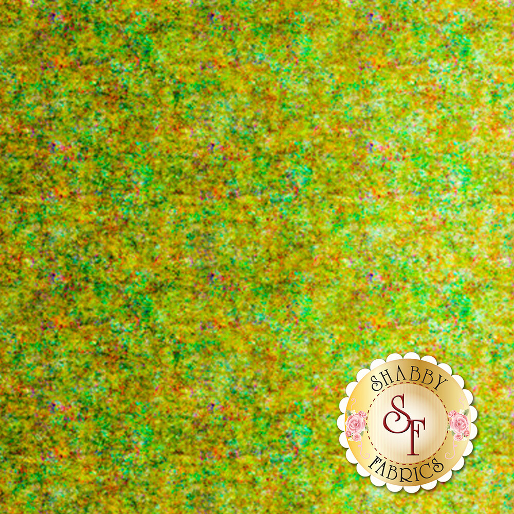 Light green ombre fabric with scroll medallion designs | Shabby Fabrics