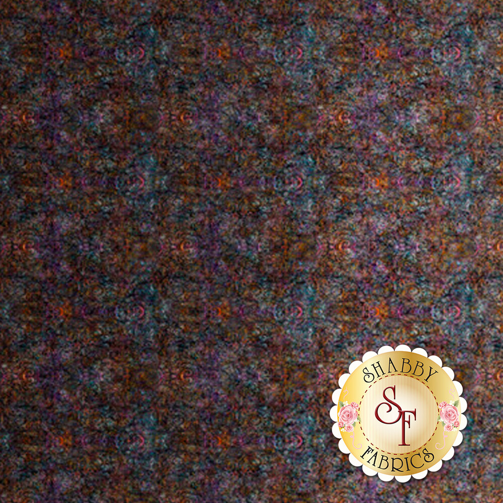 Ebony ombre fabric with scroll medallion designs | Shabby Fabrics
