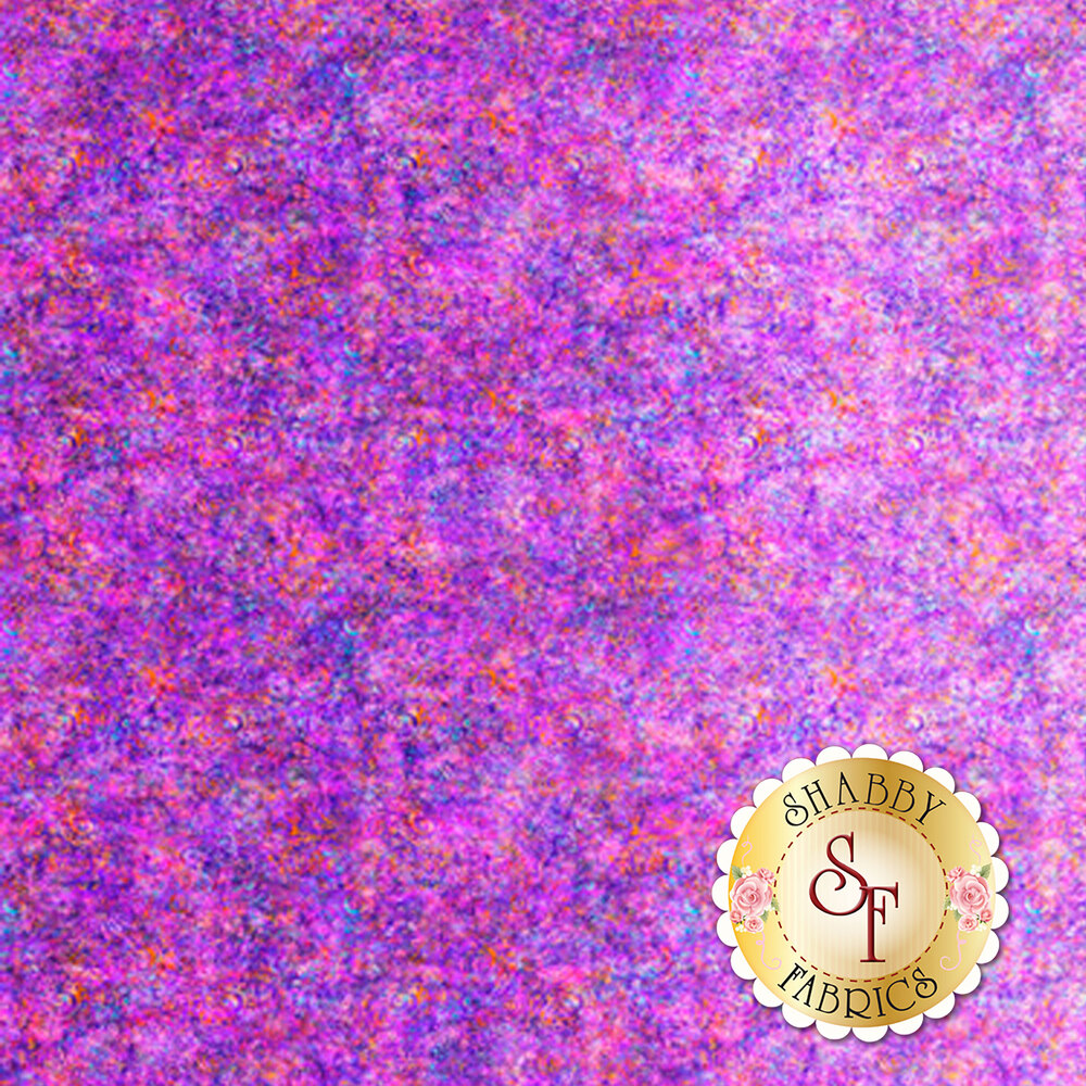 Light purple ombre fabric with scroll medallion designs | Shabby Fabrics