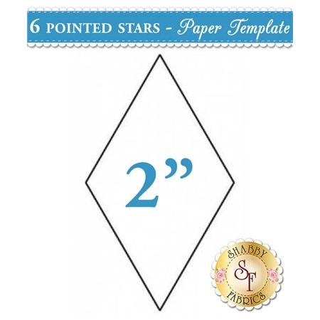 2 inch 6 point Star Papers - 50 count