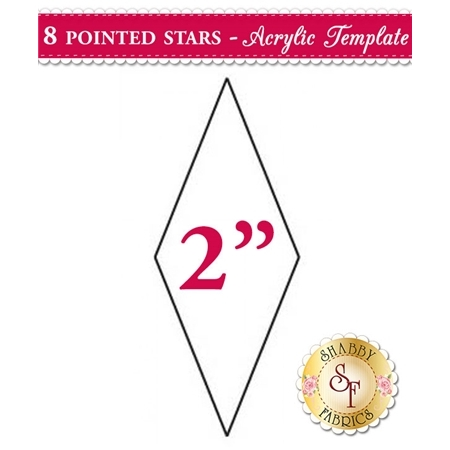 2 inch 8 Point Star Acrylic Template